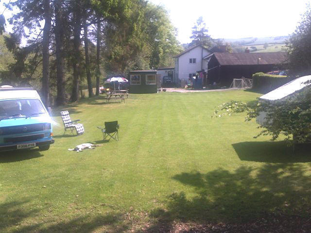 Camping At The Rear Of The Dolau Inn
